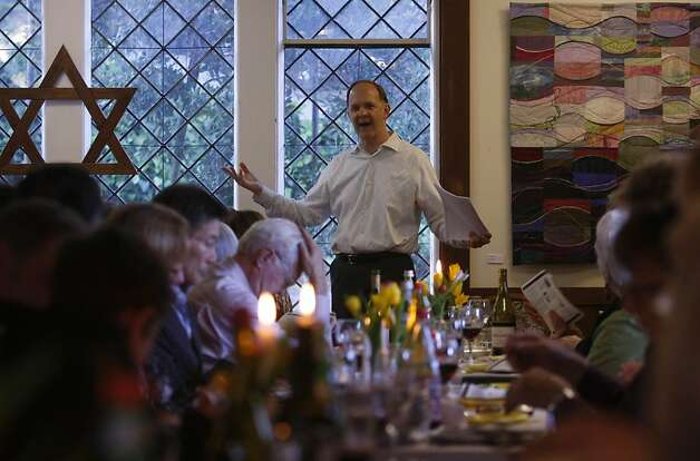 Paul Mowry held a Seder dinner Thursday, April 5, 2012. Paul Mowry is the new minister of the Sausalito Presbyterian Church and is the gay ordained priest in the ministry. Photo: Sean Culligan, The Chronicle