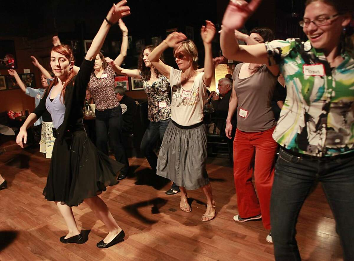 Swing/Lindi hop class taught by Miriam Grill at the Savanna Jazz Club on Wednesday, May 23rd, 2012 in San Francisco, Calif.