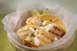 Scallop Tacos as seen in San Francisco , California on Wednesday, May 16, 2012. Food styled by Amanda Gold.