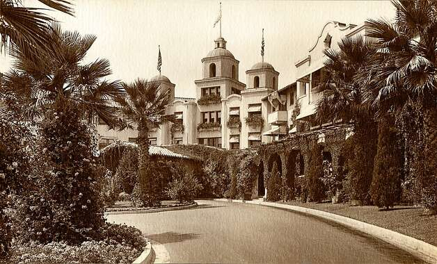In this undated image released by Beverly Hills Collection, a historic view of The Beverly Hills Hotel is seen. The Beverly Hills Hotel is celebrating its 100th Anniversary in May. (AP Photo/Beverly Hills Collection) Photo: Associated Press