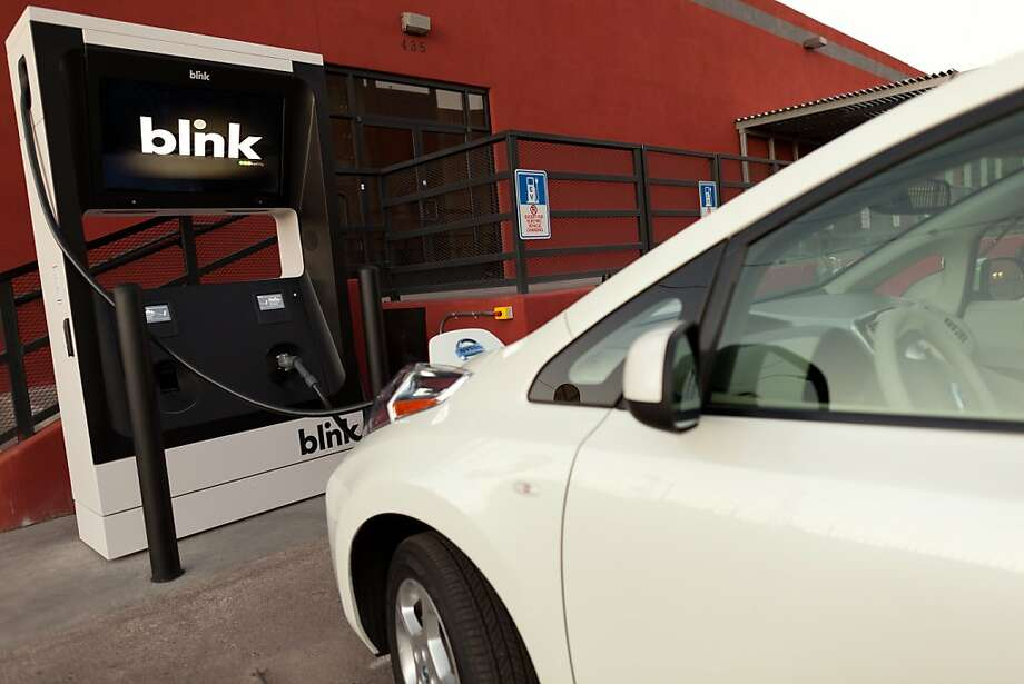 Ecotality, the San Francisco maker of this electric car charging station, has sued the state PUC over an agreement that will have New Jersey's NRG Energy install similar stations throughout the state. Photo: ECOtality