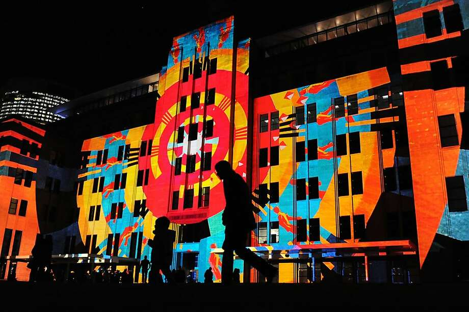 "12. Sydney, Australia: ""Due to Sydney's early stage funding gap, there is an opportunity for investors to increase seed stage activity there, especiallyfor super angels and venture capitalists. The necessary capital supply will help founders to commit earlier full-time to their startups."" Here, images by the German design collective Urbanscreen are projected onto the walls of Sydney's Museum of Contemporary Art using digital 3D mapping technology during the opening of the VIVID Sydney festival of light on May 25, 2012. Photo: Torsten Blackwood, AFP/Getty Images"