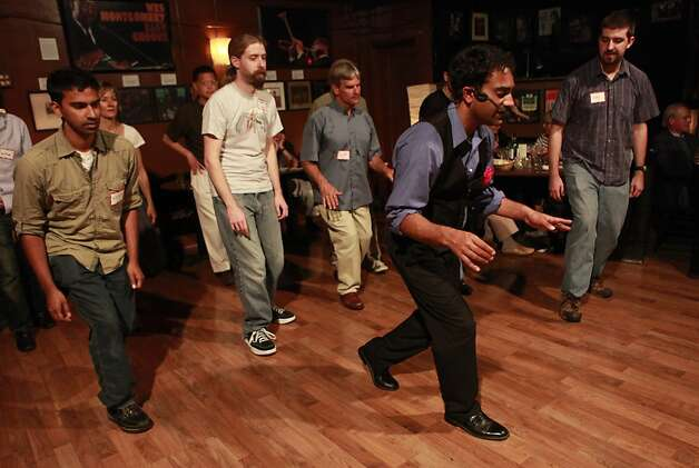 Swing/Lindi hop class taught by Nathan Dias at the Savanna Jazz Club on Wednesday, May 23rd, 2012 in  San Francisco, Calif. Photo: Jill Schneider, The Chronicle