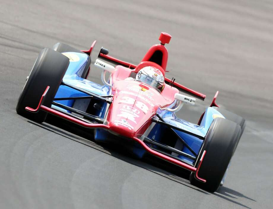 INDIANAPOLIS, IN - MAY 20:  Graham Rahal drives the #38 Service Central car during practice for the Indinapolis 500 at Indianapolis Motor Speedway on May 20, 2012 in Indianapolis, Indiana.  (Photo by Andy Lyons/Getty Images) Photo: Andy Lyons, Getty Images