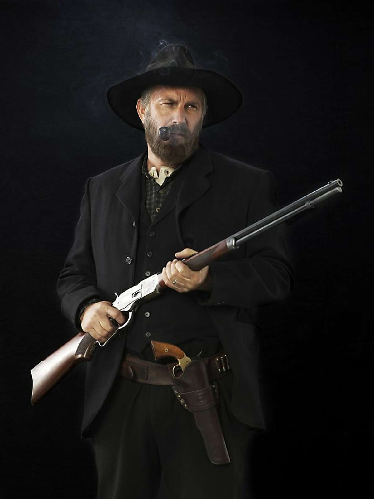 Kevin Cotsner as Devil Anse Hatfield in,
