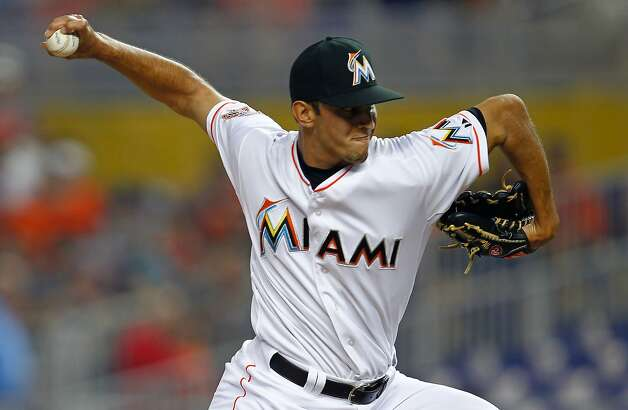 MIAMI, FL - MAY 26:  Steve Cishek #31 of the Miami Marlins pitches during a game against the San Francisco Giants at Marlins Park on May 26, 2012 in Miami, Florida. The Marlins defeated the Giants 5-3.  (Photo by Sarah Glenn/Getty Images) Photo: Sarah Glenn, Getty Images