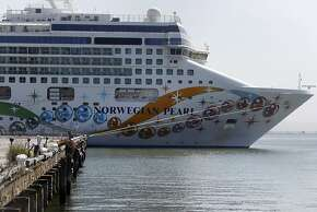 The mega cruise ship Norwegian Princess stops at Piers 30-32 in San Francisco, Calif. on Tuesday, May 1, 2012.