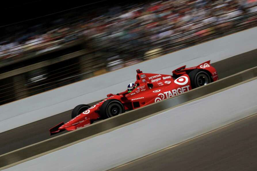 INDIANAPOLIS, IN - MAY 27:  Dario Franchitti, driver of the #50 Target Chip Ganassi Racing Honda, ra