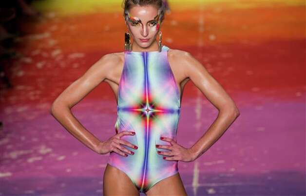 A model wears a creation by Triya summer collection during Fashion Rio  in Rio de Janeiro, Brazil, Saturday, May 26, 2012. (AP Photo/Victor R. Caivano) Photo: Associated Press