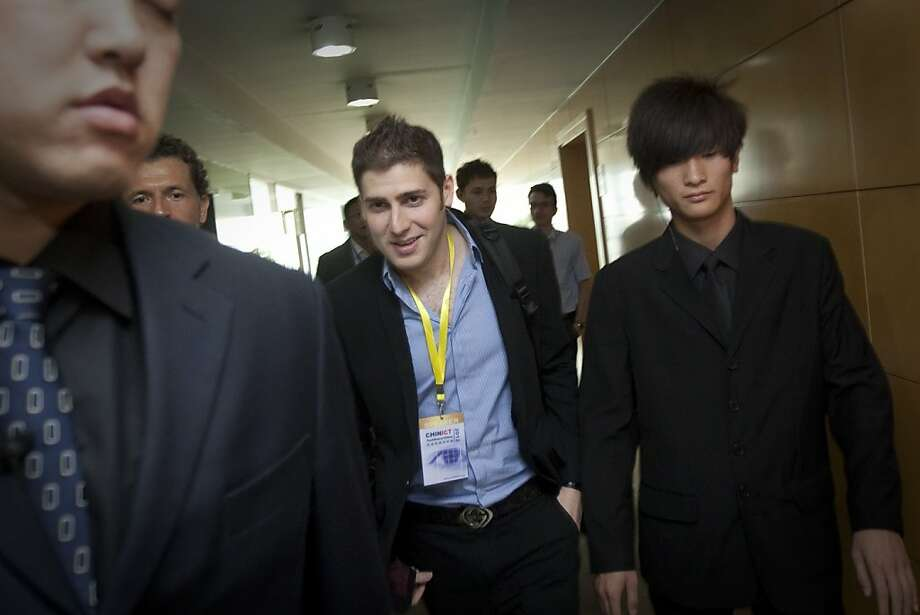 Eduardo Saverin, co-founder of Facebook Inc., center, leaves the CHINICT Techstars in China conference in Beijing, China, on Friday, May 25, 2012. Saverin said his next investment in mobile payment company Jumio Inc. is growing faster than Facebook did at the start. Photographer: Nelson Ching/Bloomberg *** Local Caption *** Eduardo Saverin Photo: Nelson Ching, Bloomberg