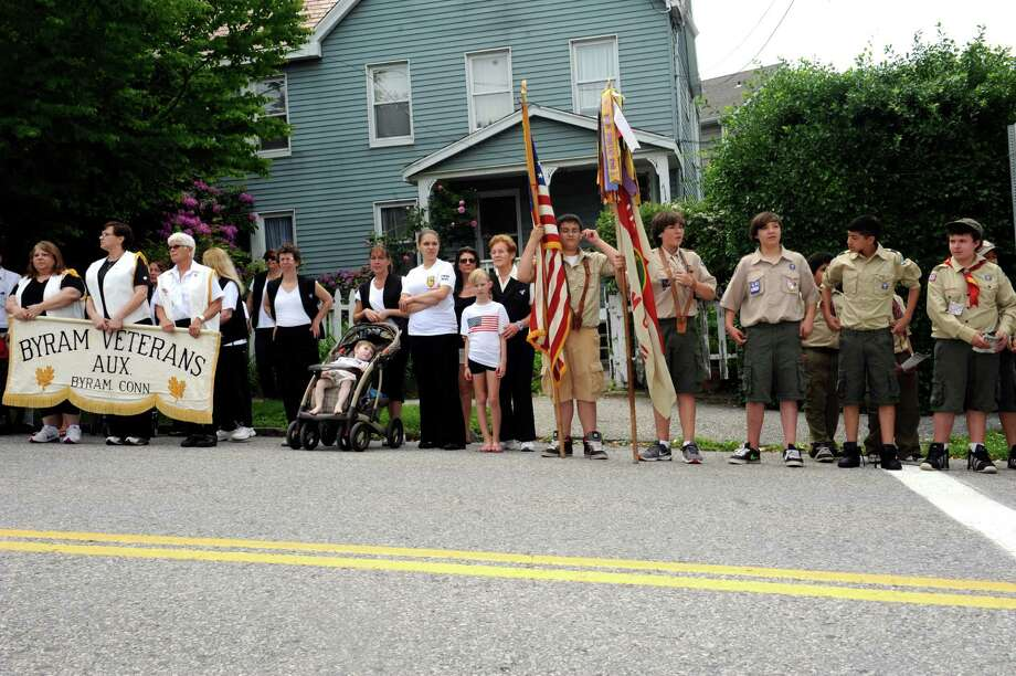 The Byram Veterans Association's Memorial Day Parade Sunday, May 27, 2012. Photo: Helen Neafsey / Greenwich Time