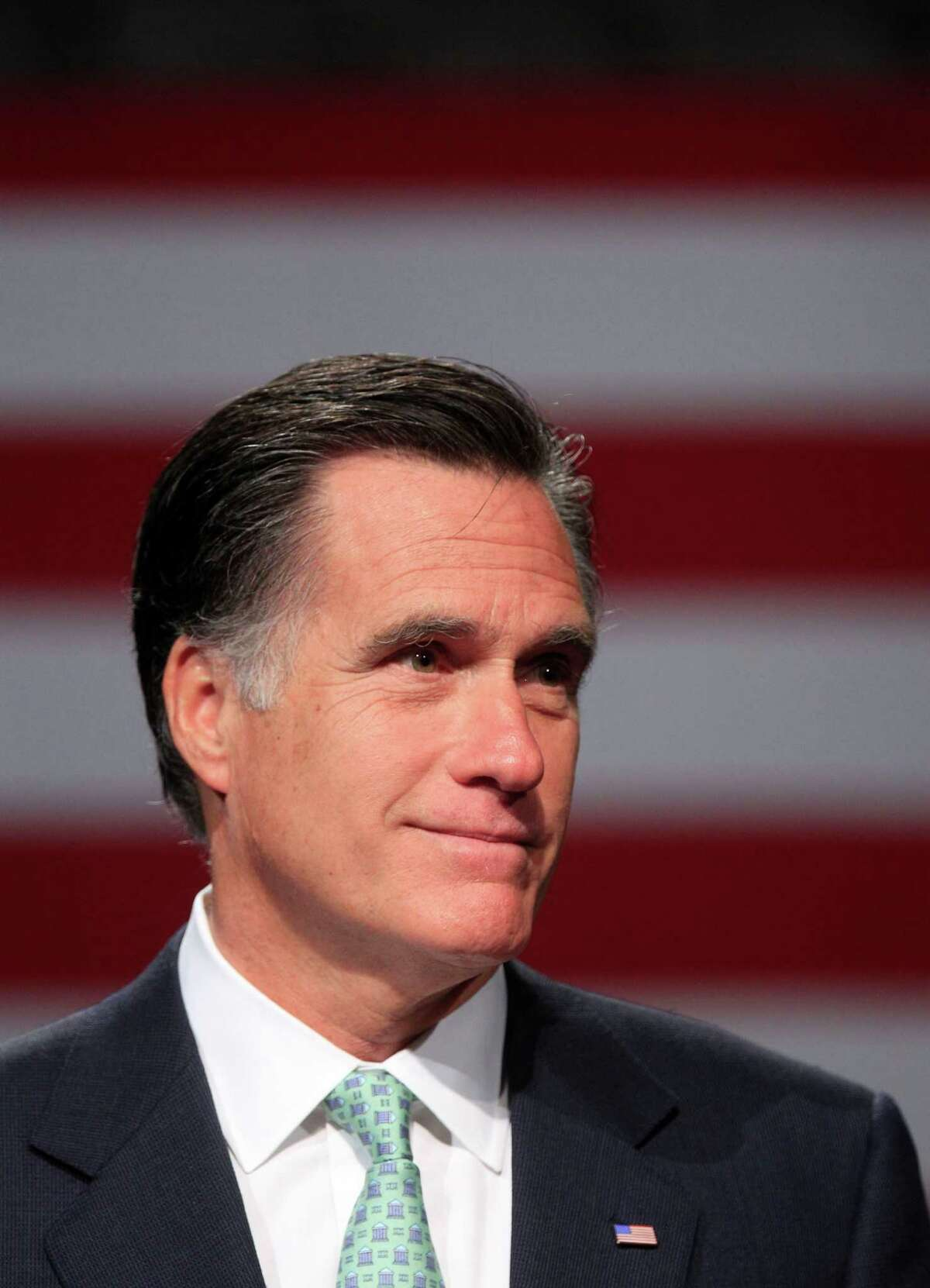 Republican presidential candidate, former Massachusetts Gov. Mitt Romney speaks at Lansing Community College in Lansing, Mich., Tuesday, May 8, 2012. (AP Photo/Carlos Osorio)