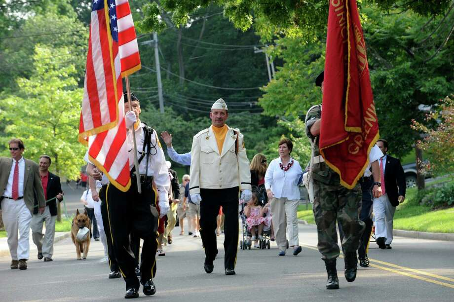 The Ninth District Veterans Association's Memorial Day Parade in Glenville Sunday, May 27, 2012. Photo: Helen Neafsey / Greenwich Time