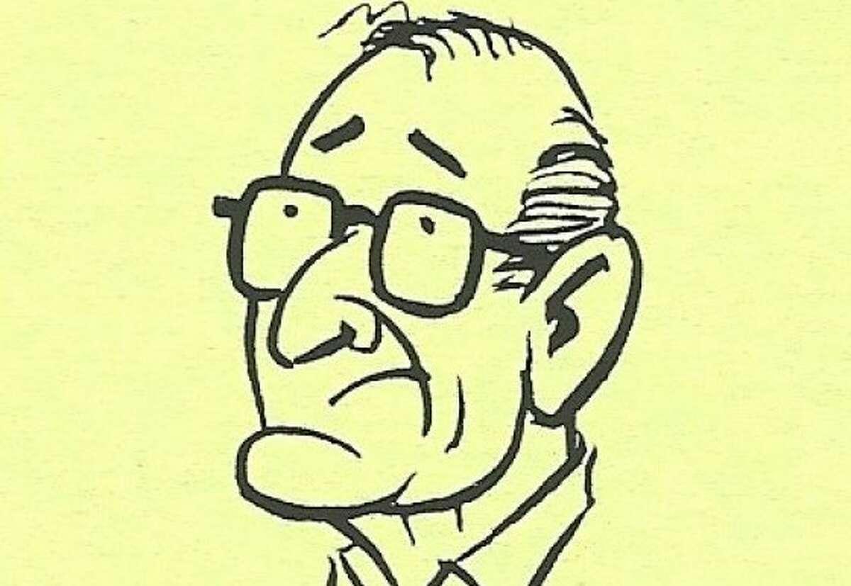 Sketch of Ken Alexander for obit. Courtesy of Alexander family.