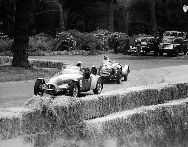 Bill David leads Al Coppel both in MG Specials - 1952. Photo: Nichols Collection/SFR Archive