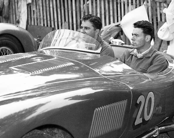 Pollack with unidentified passenger in Jaguar C-type - 1953. Photo: Nichols Collection/SFR Archive