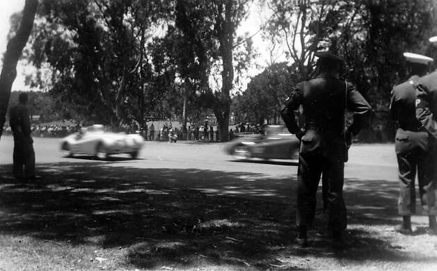 Golden Gate Park - crowd and cars. Photo: Nichols Collection/SFR Archive