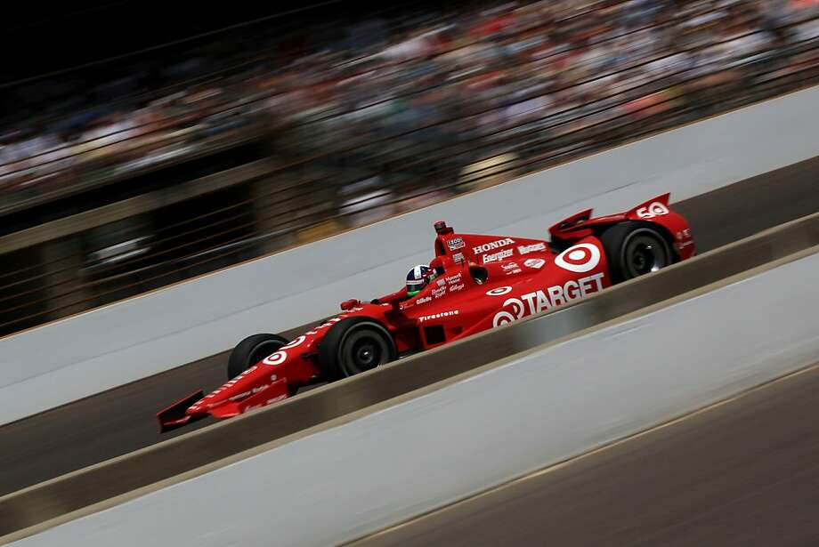INDIANAPOLIS, IN - MAY 27:  Dario Franchitti, driver of the #50 Target Chip Ganassi Racing Honda, races during the IZOD IndyCar Series 96th running of the Indianpolis 500 mile race at the Indianapolis Motor Speedway on May 27, 2012 in Indianapolis, Indiana.  (Photo by Chris Trotman/Getty Images) Photo: Chris Trotman, Getty Images