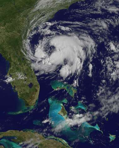 "This image obtained from NASA's GOES Project, shows Subtropical Storm Beryl (C) as it sits off the US coast on May 27, 2012. Beryl picked up some speed early Sunday as it headed for the southeastern US coast, threatening to put a damper on Memorial Day plans for hordes of American beachgoers. Early Sunday, Beryl was about 175 miles (280 kilometers) southeast of Savannah, Georgia gaining some strength with top winds of 50 miles (85 kilometers) per hour.   = RESTRICTED TO EDITORIAL USE - MANDATORY CREDIT ""AFP PHOTO / NASA/GOES Project"" - NO MARKETING NO ADVERTISING CAMPAIGNS - DISTRIBUTED AS A SERVICE TO CLIENTS =-/AFP/GettyImages Photo: -, AFP/Getty Images"