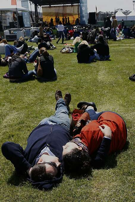 Taking a snooze during the early afternoon on the Marina Green in San Francisco, California, on Sunday, May 27, 2012. Photo: Liz Hafalia, The Chronicle