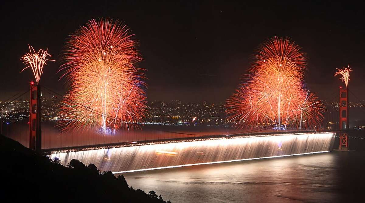 The San Francisco Bay Area celebrated the Golden Gate Bridge 75th Anniversary Sunday May 27, 2012 with a spectacular fire works show in San Francisco California.