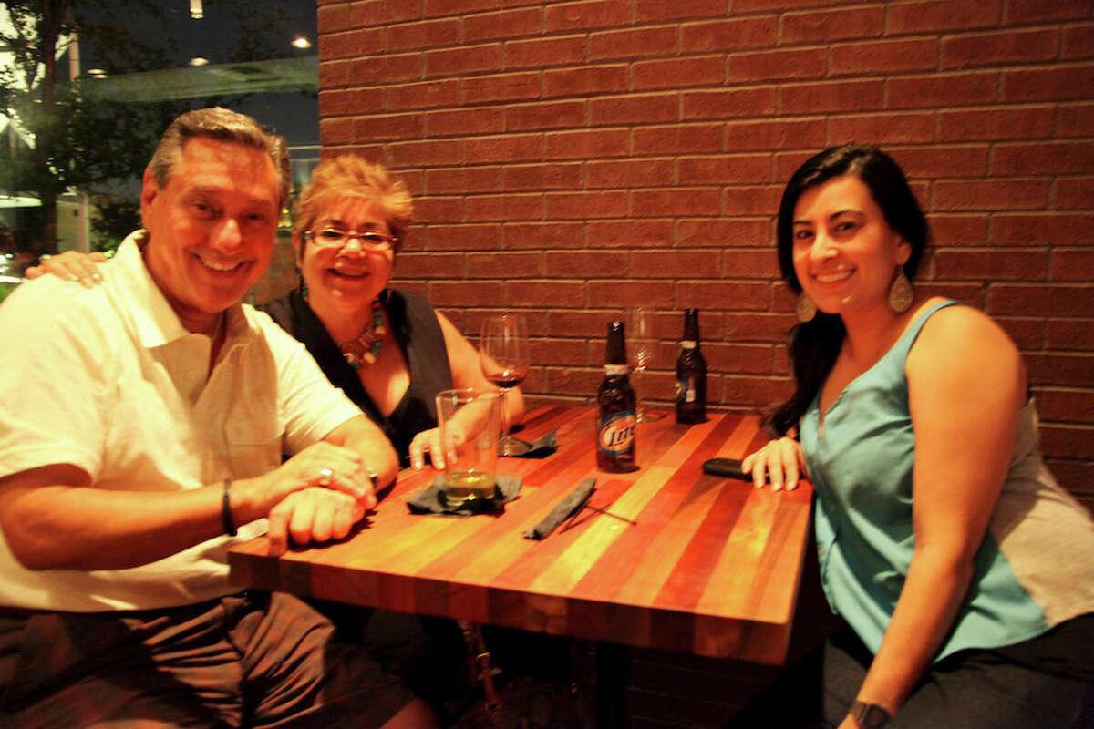 Daniel Centero, Anita Centero, and Haydee Garza at Blue Box. 5/18/12