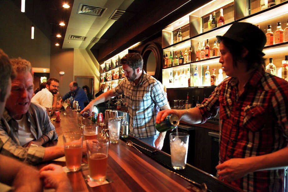Blue Boxis the first bar at the Pearl Brewery. The two-story bar offers an array of handmade cocktails, various wines and about 50 beers with a focus on Texas brews. The establishment has two bars, indoor and outdoor seating and a small stage for live music. Pub Crawl: Blue Box Photo: Xelina Flores-Chasnoff / For the Express-News