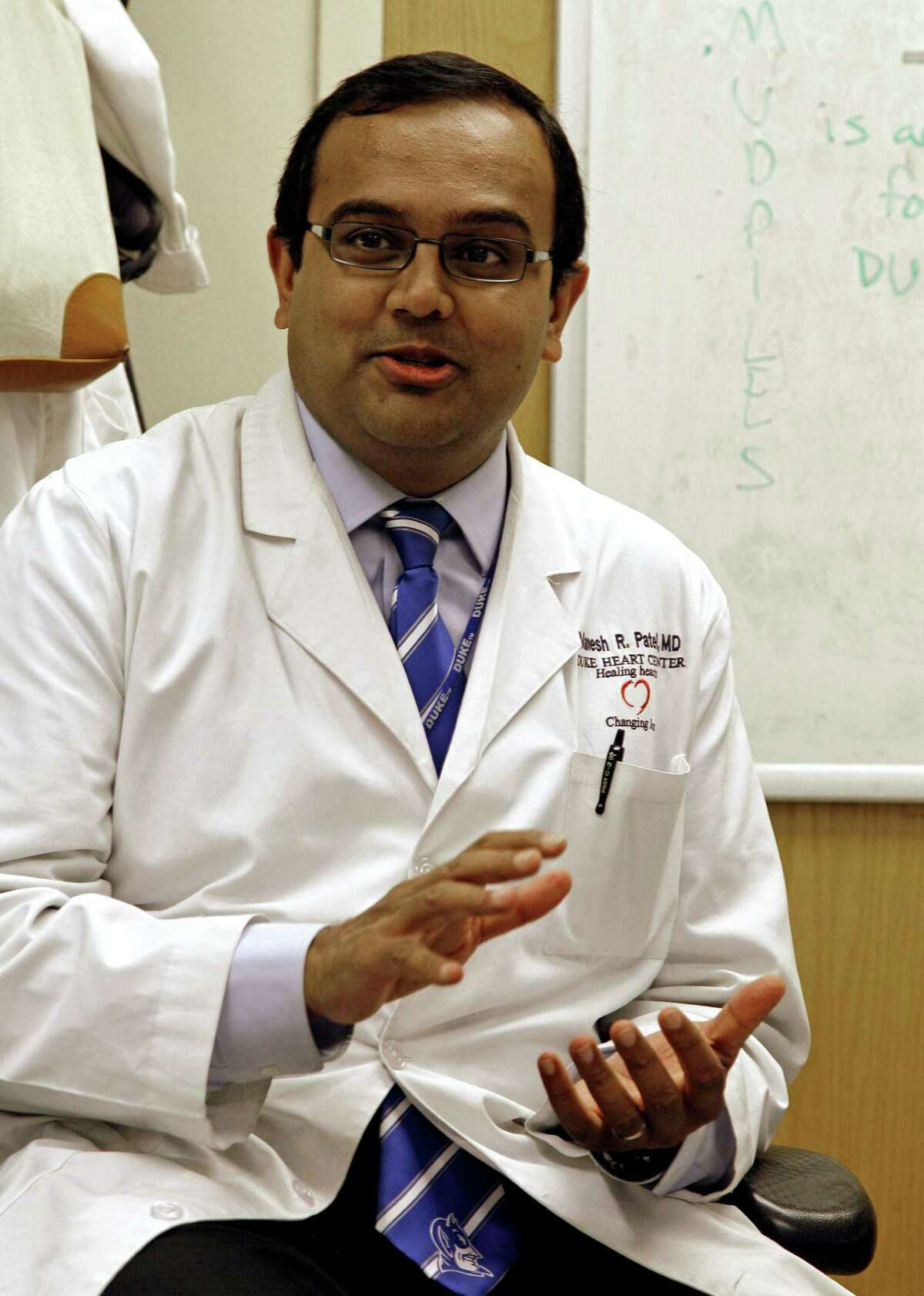 Dr. Manesh Patel of Duke University is involved in the new study.