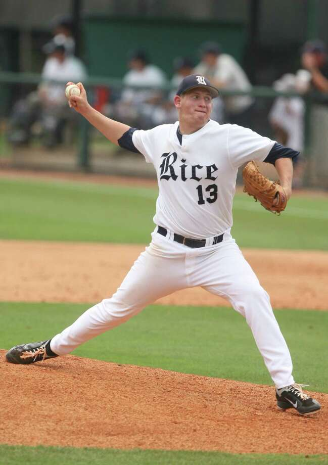 Righty John Simms might get the nod for Rice in its opener Friday against Prairie View A&M. Photo: J. Patric Schneider / Houston Chronicle