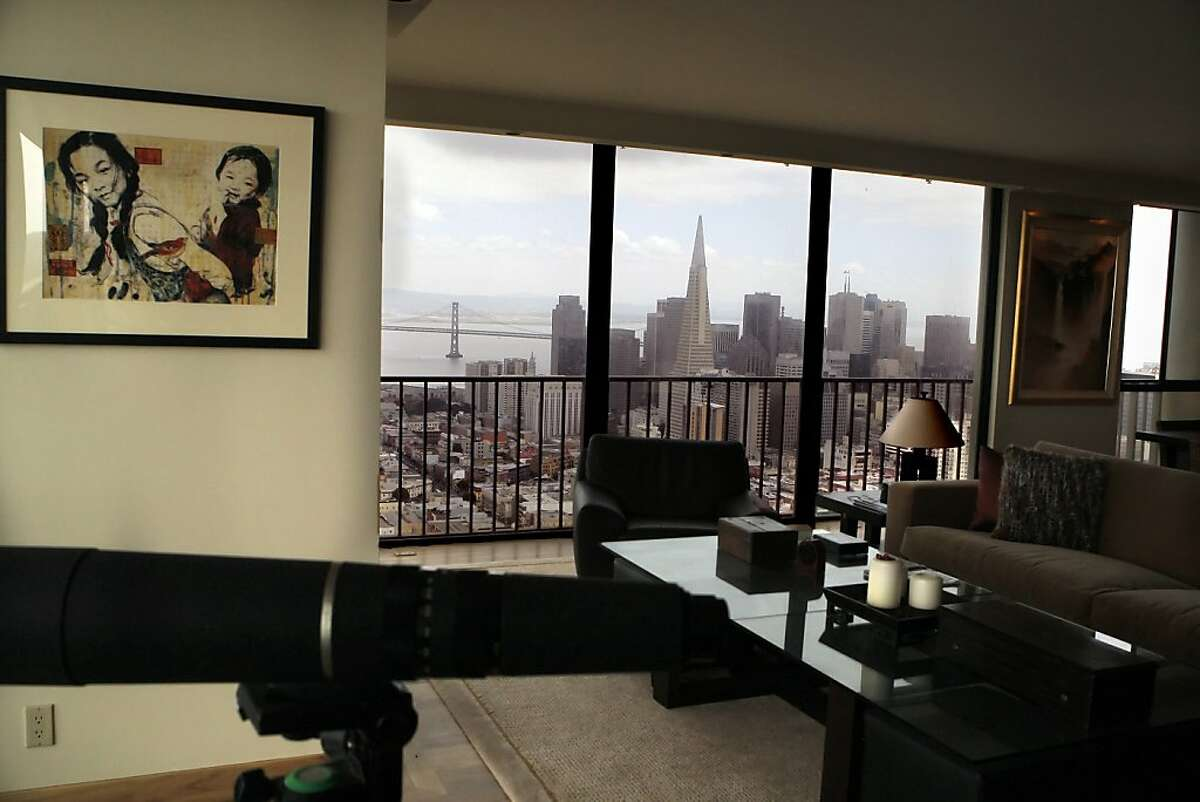 Harrington Family rents out their Russian Hill apartment in San Francisco, Calif. to America's Cup visitors. Every room in this Russian Hill condo has spectacular, panoramic views of the Bay.