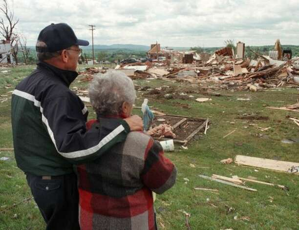Aftermath of the Mechanicville Tornado (Albany Times Union)
