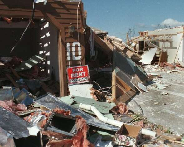 Aftermath of the Mechanicville Tornado. (Albany Times Union)
