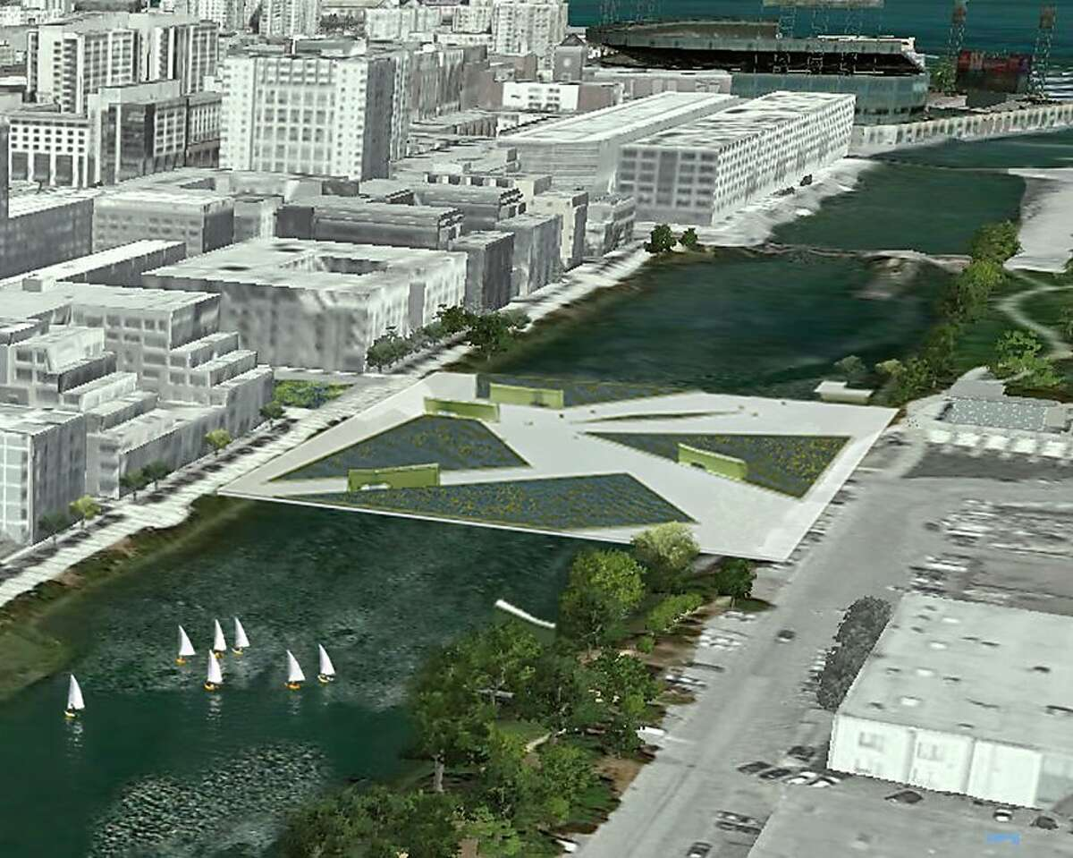The San Francisco architecture firm Kuth/Ranieri has done a number of speculative design proposals meant to put forward new ideas about urban issues. Their latest is SOMA Falls, which would turn wastewater treatment and purifying into a highly visible event. The location would be atop Mission Creek in the fast-growing Mission Bay neighborhood.