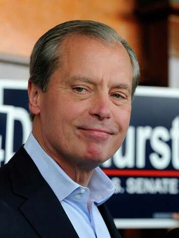 US Senate Republican primary candidate, Texas Lt. Gov. David Dewhurst talks to the media on election day, Tuesday, May 29, 2012, in Houston. Photo: Pat Sullivan, Associated Press