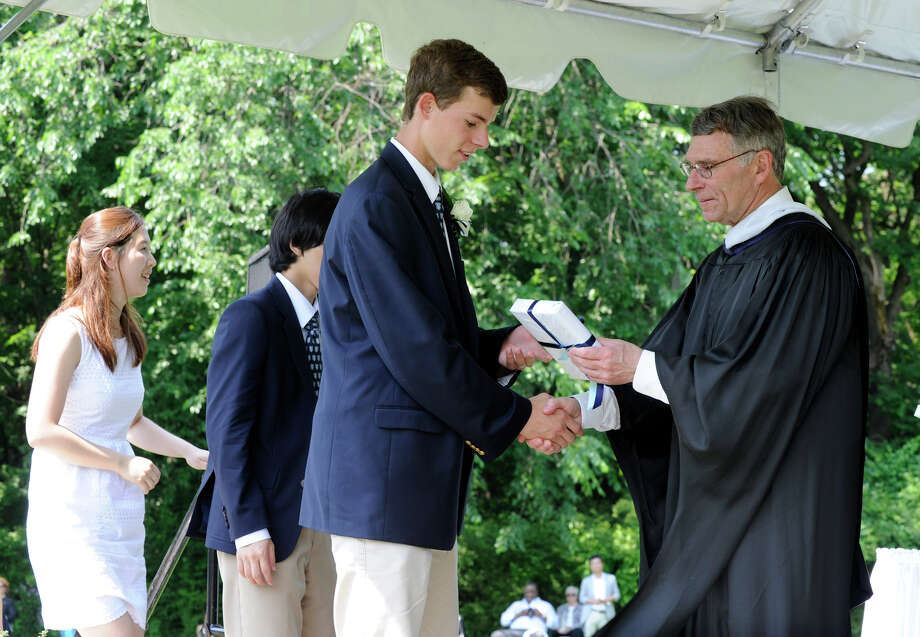 Canterbury School in New Milford holds its graduation ceremony Tuesday, May 29, 2012. Photo: Carol Kaliff / The News-Times