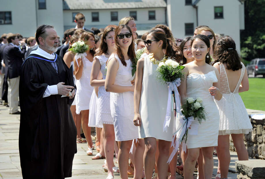 Canterbury School in New Milford holds its graduation ceremony Tuesday, May 29, 2012 at the school. Photo: Carol Kaliff / The News-Times