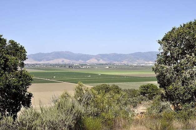 Salinas Valley farmland stretches out at hikers' feet along most of Trail 30 from the Creekside Trail access. Photo: Christine Delsol, Special To SFGate