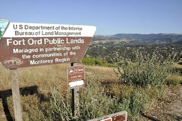 The Laguna Seca Trail access point offers long hikes over grassy, rolling hills with views over wooded residential areas. Photo: Christine Delsol, Special To SFGate