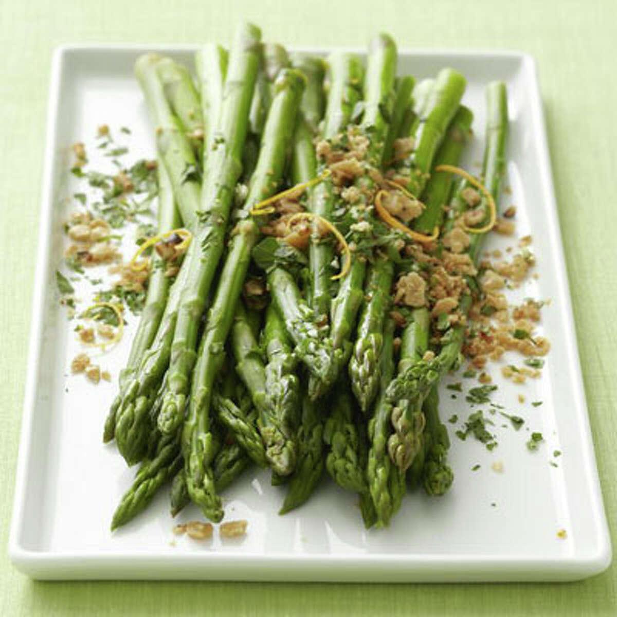 Asparagus with Matzo Gremolata