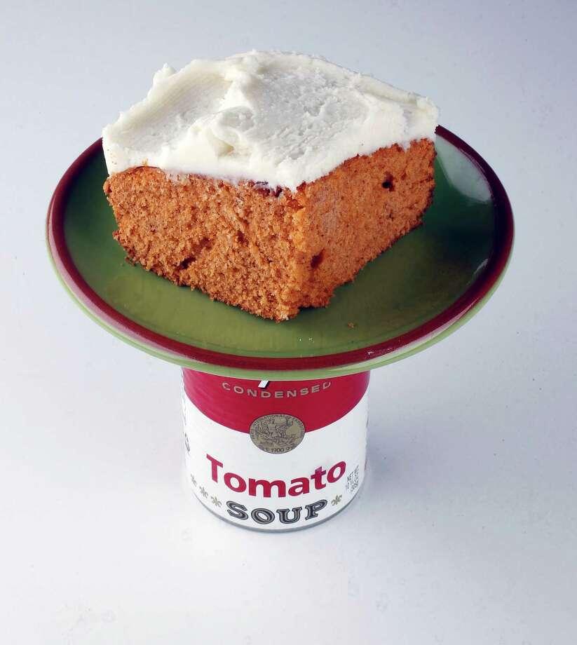 Tomato soup cake Thursday, April 5, 2012, in Houston. ( James Nielsen / Chronicle ) Photo: James Nielsen / © 2012 Houston Chronicle