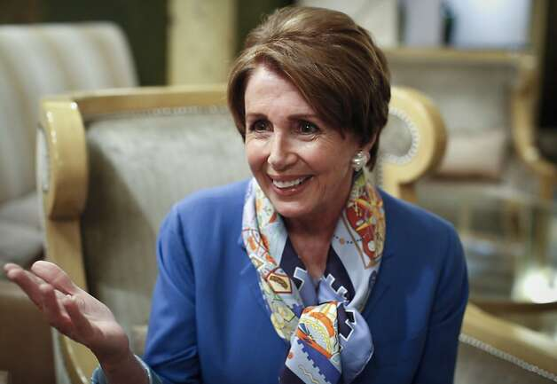 Congresswoman Nancy Pelosi talks about her 25 years in Congress and being the first female Speaker of the House of Representatives prior to a talk at the Fairmont Hotel on Tuesday, May 29, 2012 in San Francisco, Calif. Photo: Russell Yip, The Chronicle