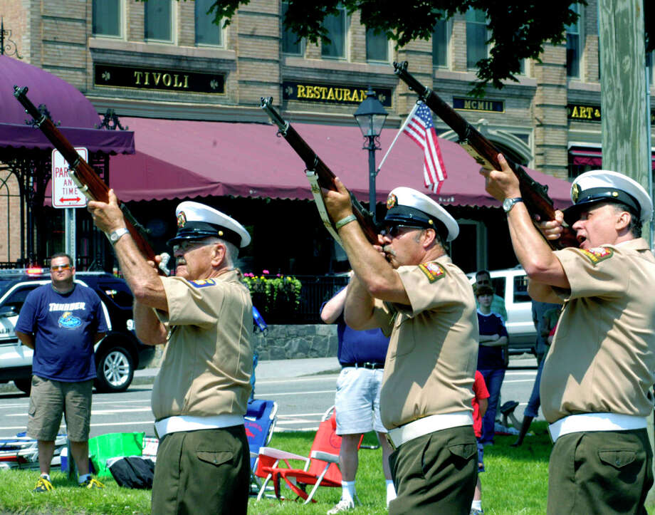 Monday: Memorial parades are planned throughout the area, including at 9:30 a.m. in Danbury, 10 a.m. in New Milford and 11:30 a.m. in Ridgefield. Photo: Norm Cummings