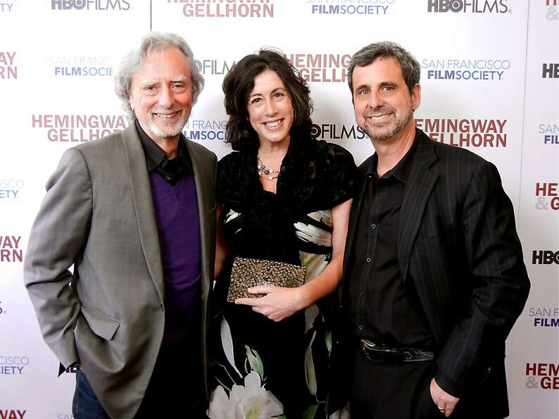 Director Phil Kaufman (left) with his daughter-in-law, Christine Pelosi and son, Hemingway Producer
