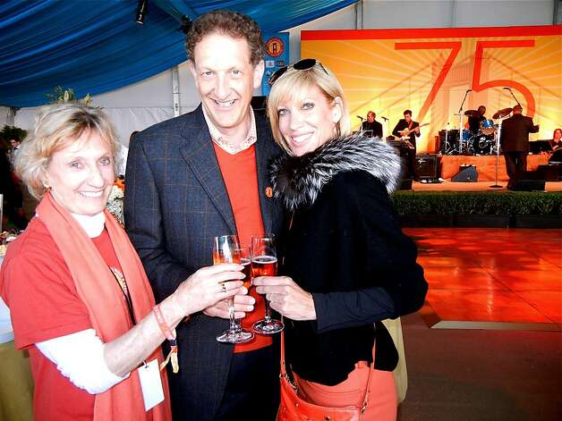 GGB75 event co-chairs Nancy Bechtle and Larry Baer (at left) with GG Bridge Janet Reilly. May 2012. By Catherine Bigelow. Photo: Catherine Bigelow, Special To The Chronicle