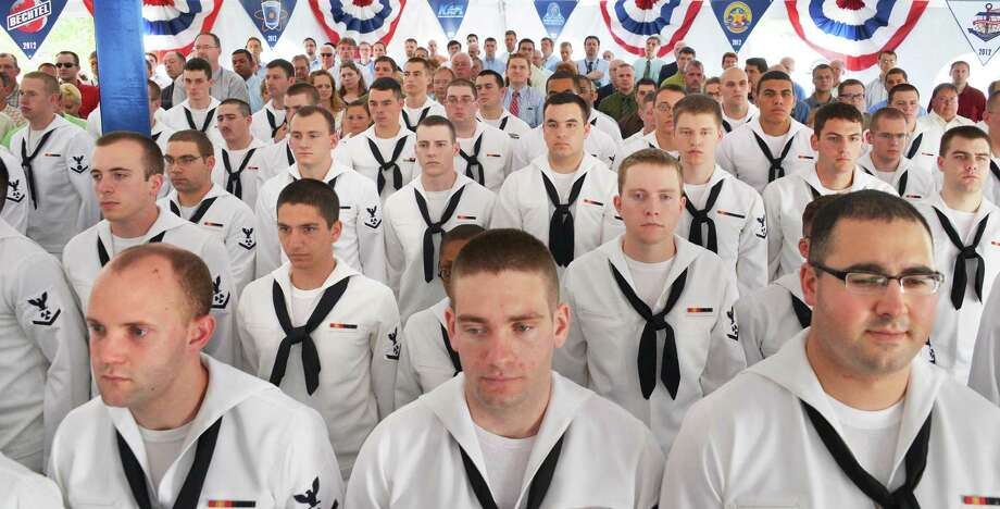 Students listen during the U.S. Naval Nuclear Propulsion Program's official ceremony commemorating the 50,000th nuclear trained sailor to graduate from the Naval Nuclear Propulsion Training Unit at the Knolls Atomic Power Laboratory in West Milton Tuesday May 29, 2012.   (John Carl D'Annibale / Times Union) Photo: John Carl D'Annibale / 00017693A