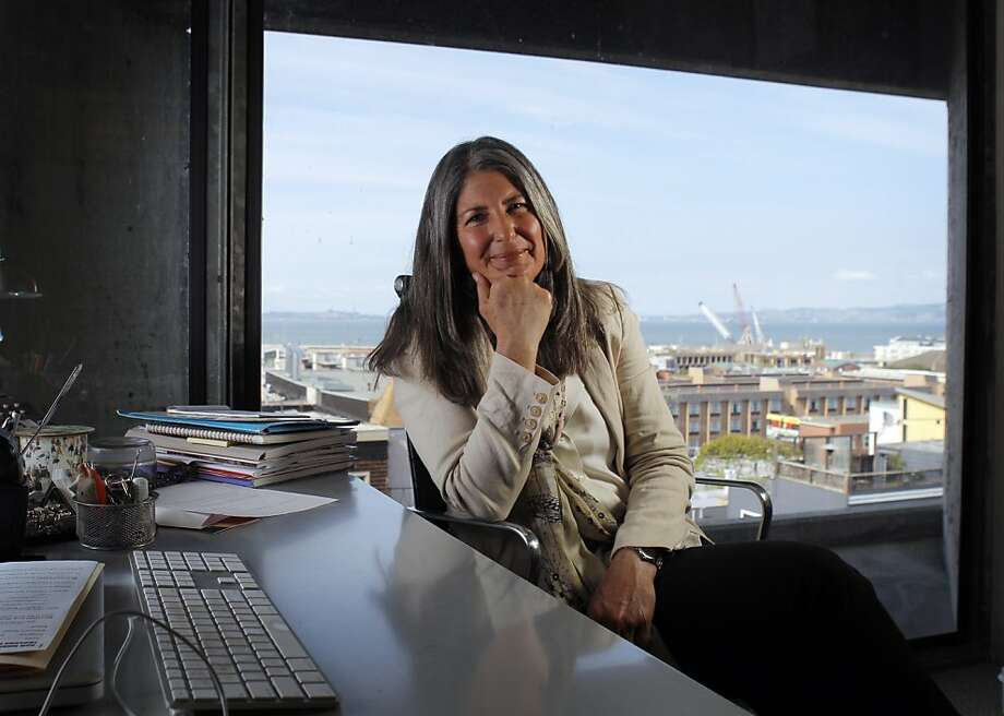 Jeanene Przyblyski is the Vice President and Dean of Academic Affairs at the San Francisco Art Institute in San Francisco, Calif. She is the subject of the Catching Up feature in the Chronicle and is shown in her office on Tuesday, April 24, 2012. Photo: Carlos Avila Gonzalez, The Chronicle