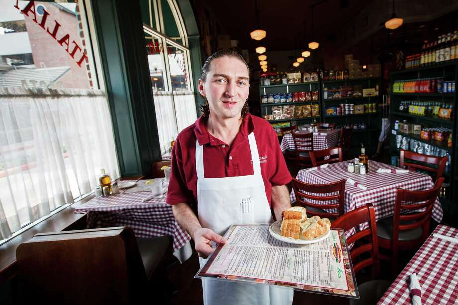 Greg Rubar, a waiter at D'Amico's Italian Market Cafe in Rice Village, says he's still rattled by the incident. Photo: Michael Paulsen / © 2012 Houston Chronicle