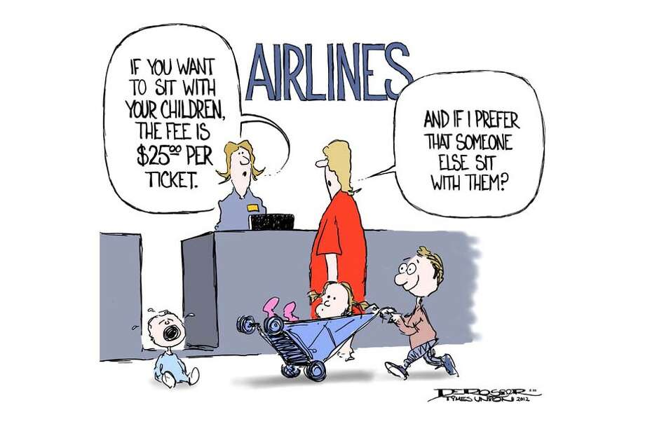 Airlines charge fees for familles to sit together. Photo: John De Rosier