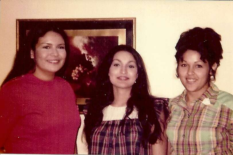 The Partida girls in 1973 - left to right: Maureen Berryman, Evelyn Casillas, Anna Martinez