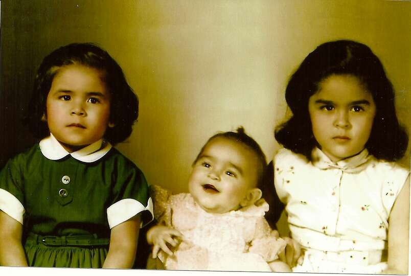 The Partida girls in 1956 - from left to right: Maureen, Evelyn, Anna